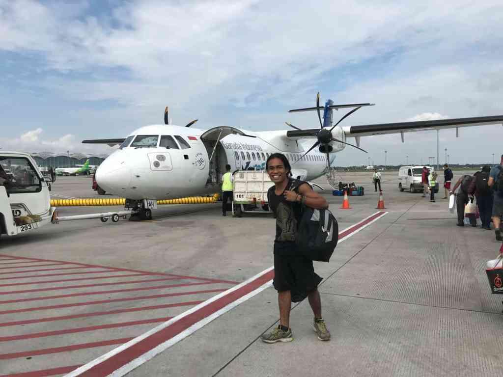 Hitting the airport ready to travel Sumatra