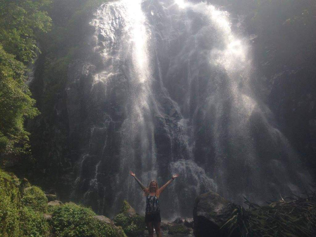waterfall in Lake Toba