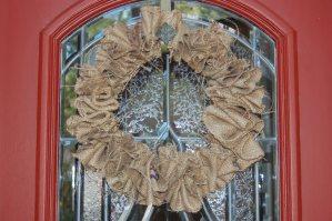 WFMW: Burlap Wreath