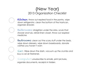 WFMW: New Year Organization Checklist