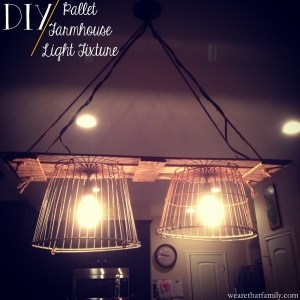 DIY Pallet Farmhouse Light Fixture