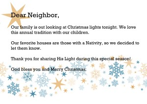 Dear Neighbor: