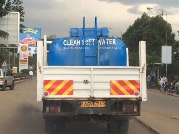 water truck in Kenya