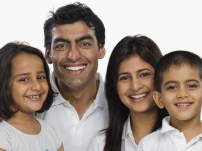 indian family smiling