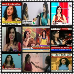 Jyoti Jhangiani on various Tv channels