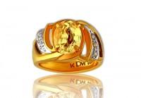 A natural unheated Ceylon Yellow sapphire ring from Gemstoneuniverse