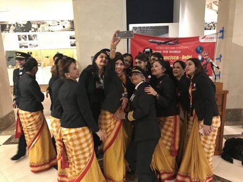air india all female crew