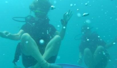 Duiken tijdens mijn Padi Open Water cursus bij Koh Rong Dive Center