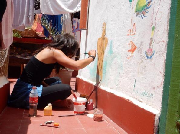 Schilderen op de muren
