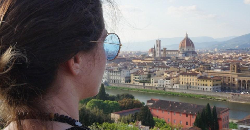 Het uitzicht over Florence