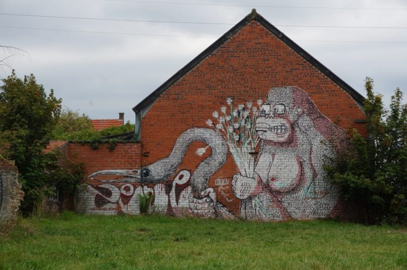 Graffiti in de Belgische spookstad Doel