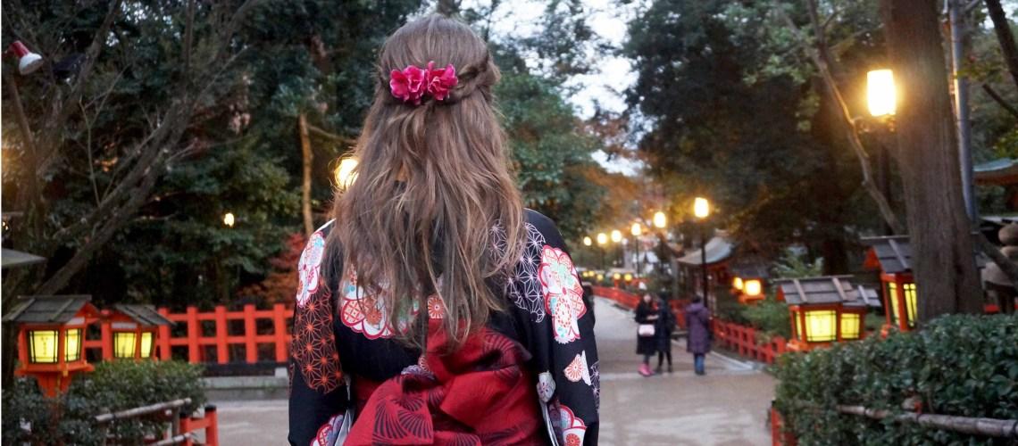 toerist, kimono, obi, kyoto, japan