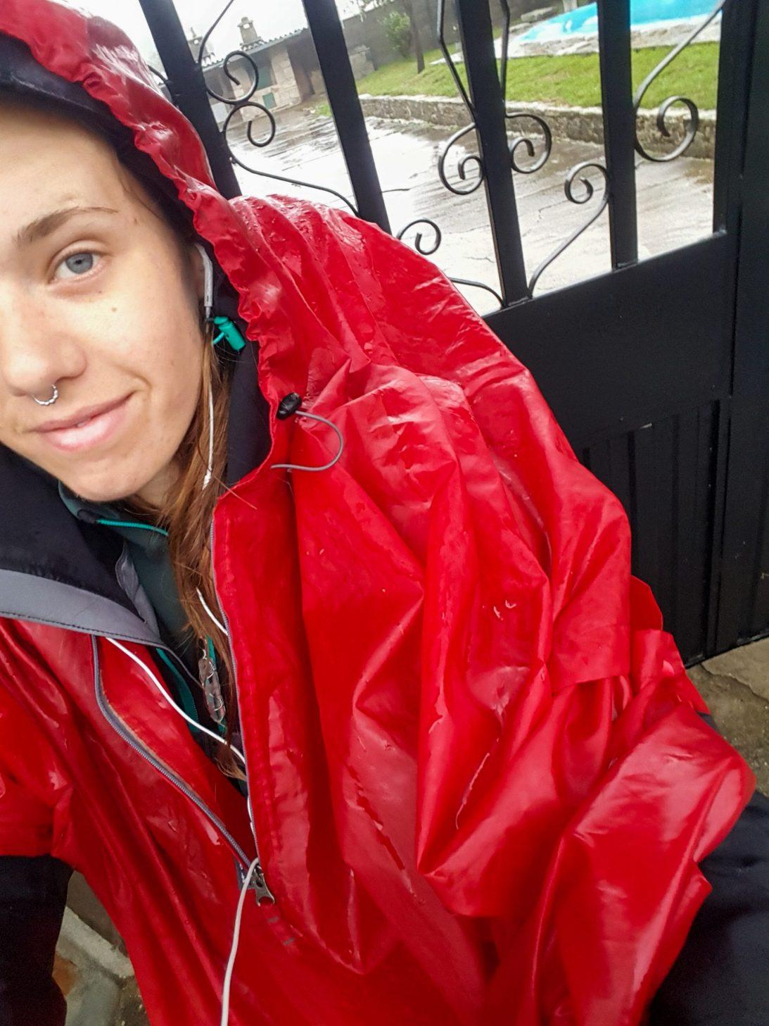 Een selfie in de regen