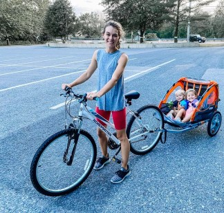 June Recap: New bike and bike trailer for exploring with the kids