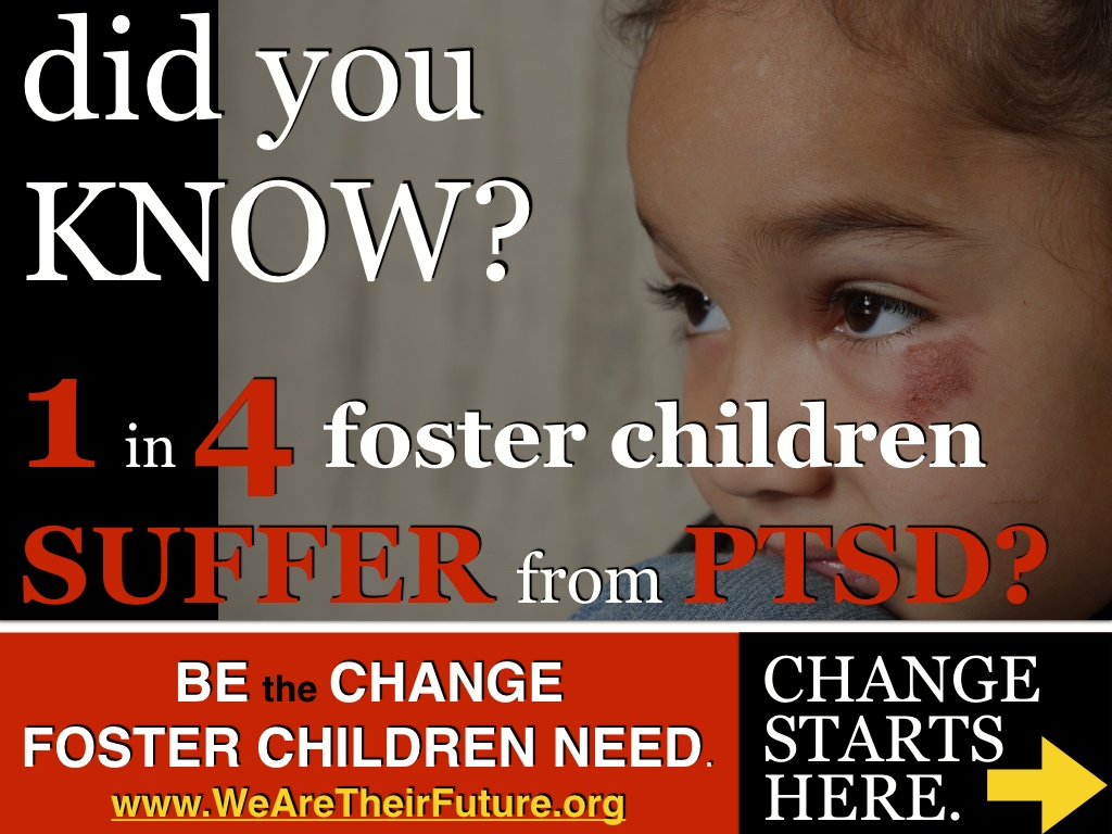 One in four foster children have PTSD