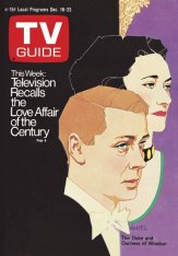 Amsel's first TV Guide cover, featuring the Duke and Duchess of Windsor, 1972