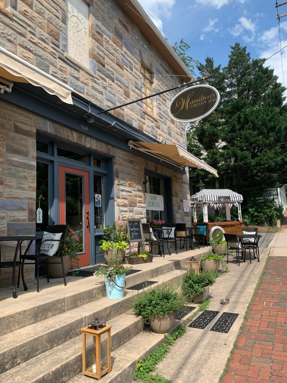 The front porch at Hamilton's Tavern.