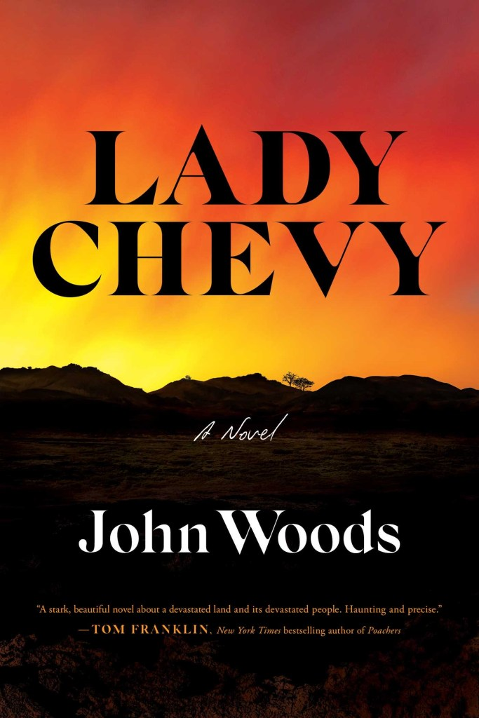 Book cover for novel called Lady Chevy by John Woods
