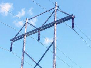 138,000 volt transmission lines near Kabletown