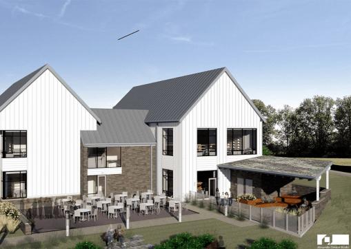 Rendering of the new library in Shepherdstown.