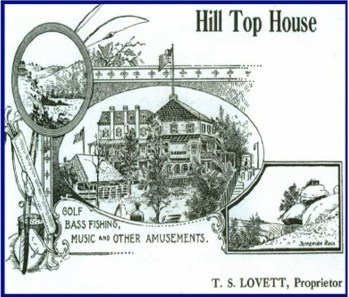 A 1920s postcard for hill top house.