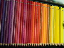 A collection of watercolor pencils.