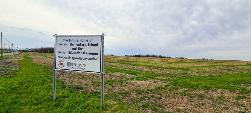 The 150 acre site for the new Ranson Elementary School.