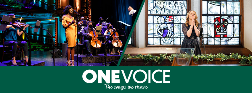 American Pops Orchestra logo for the One Voice performance series.