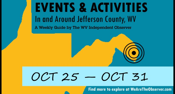 Events and activities from october 25 to october 31
