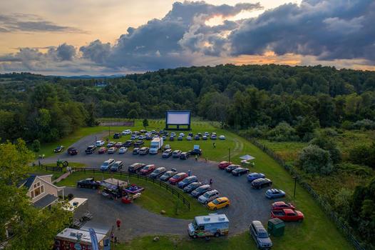 Loudoun Arts Film Fest drive in screen