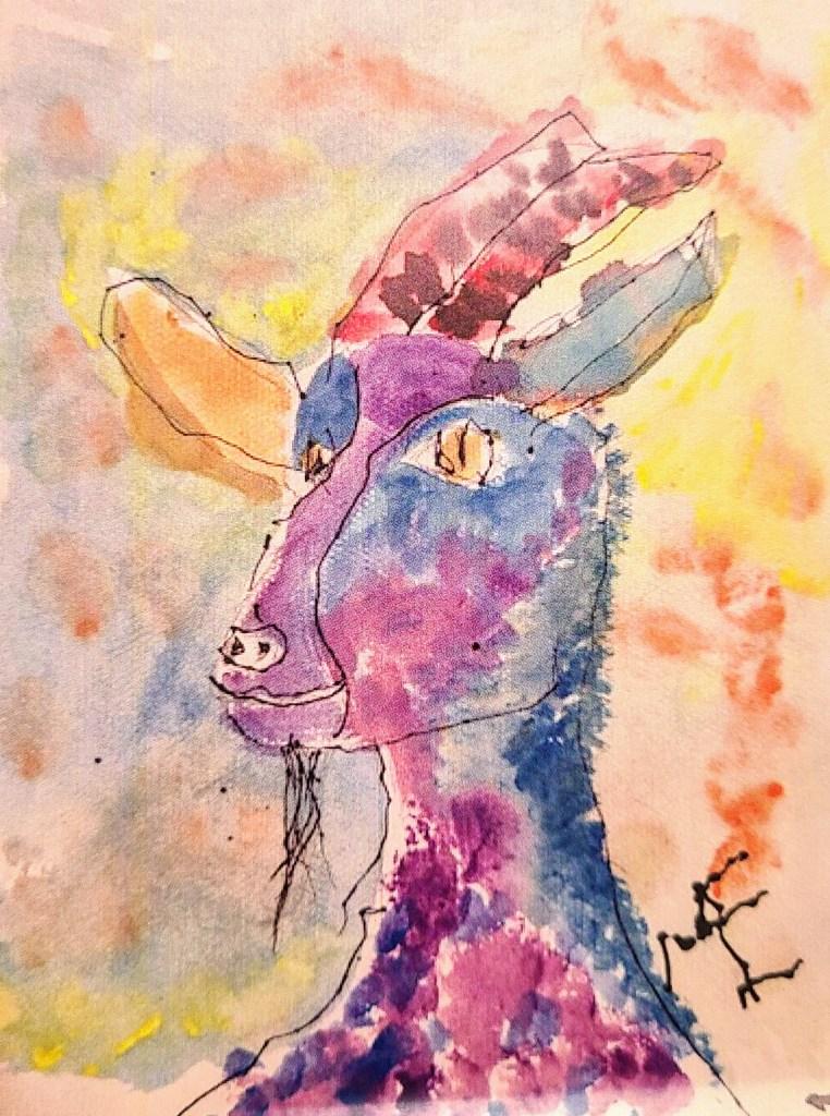 Kimmy the Goat - art by Mason Ellsworth
