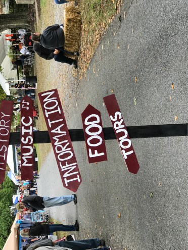 A fun sign for all the activities at the Middleway Day Festval.