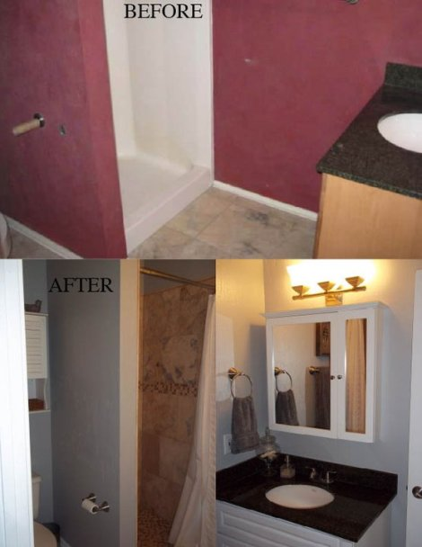 Guest House Bathroom Before and After