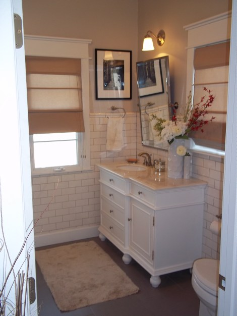 Subway tile bathroom remodel