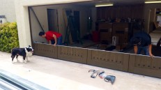 Assembling the garage door