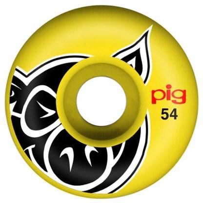 pig-head-yellow-skateboard wheels