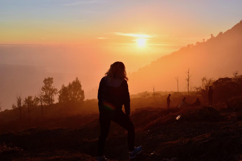 Night Hiking At Kawah Ljen Volcano Indonesia