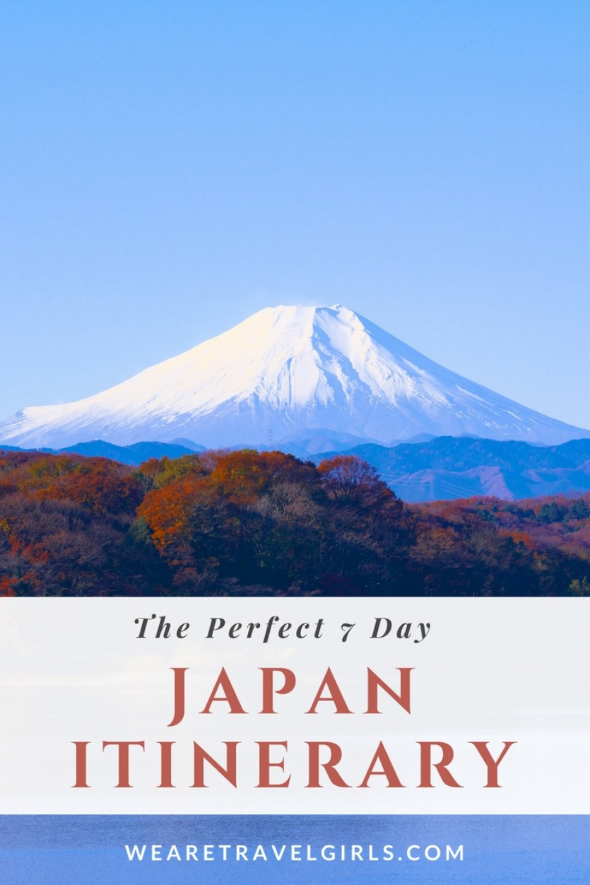7 Day Japan Itinerary on We Are Travel Girls