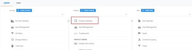 Linking Analytics and Search Property