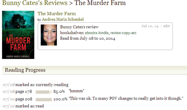 Goodreads   Bunny Cates  review of The Murder Farm