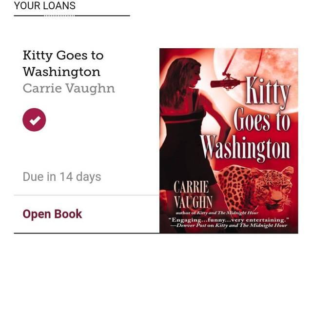 fridayreads this week Kitty Goes to Washington Kitty Norville Bookhellip