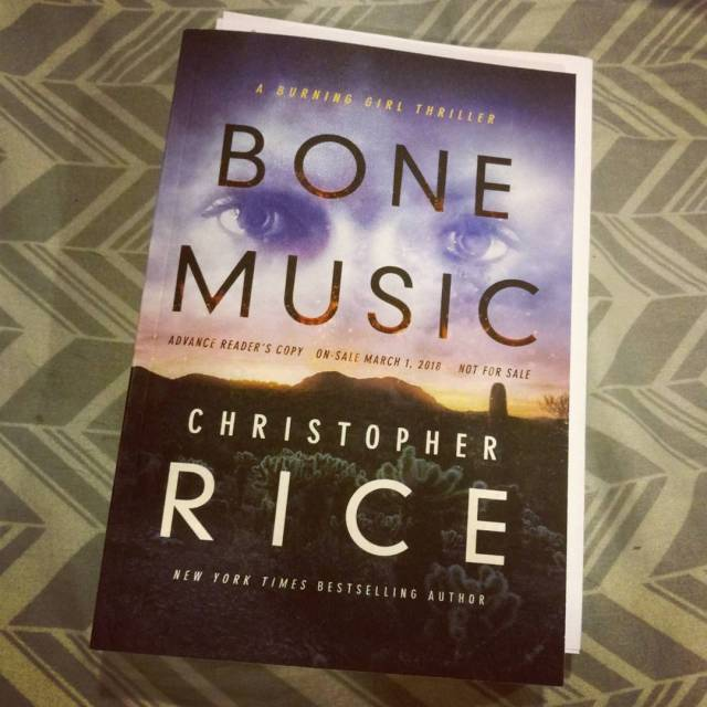 New books inmymailbox last week! BoneMusic by christopherricewriter sogood readinghellip