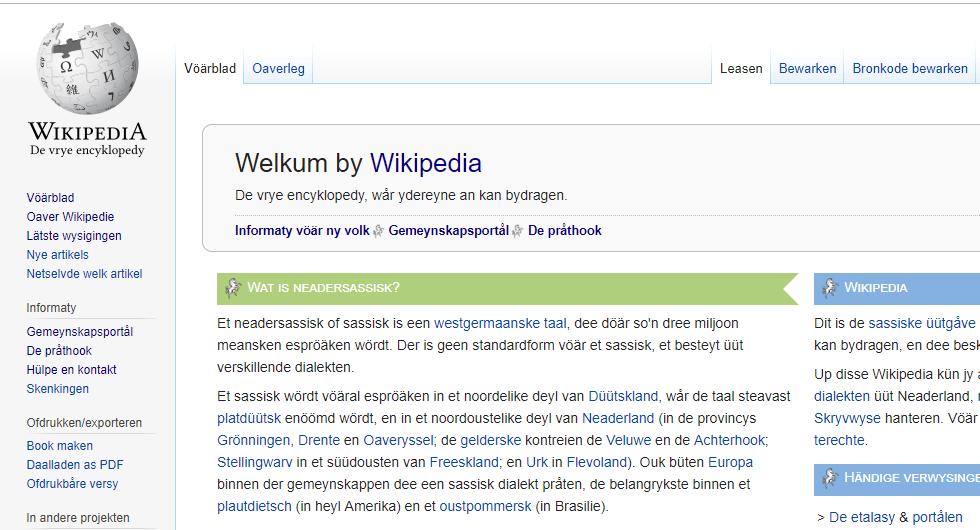 PODCAST | Wårümme Wikipedia so belangryk is vöär et neadersassisk