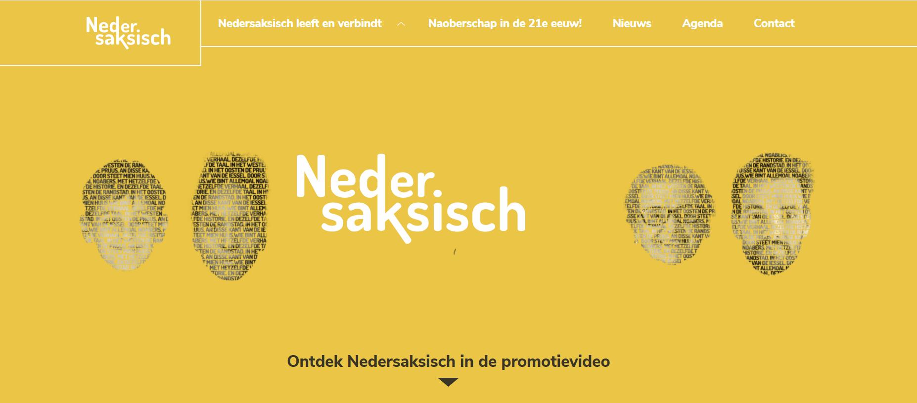 Hollandsk up nye websteade Nedersaksisch.com ougstet vöäral unbegrip