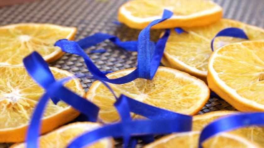 украшения из апельсинов