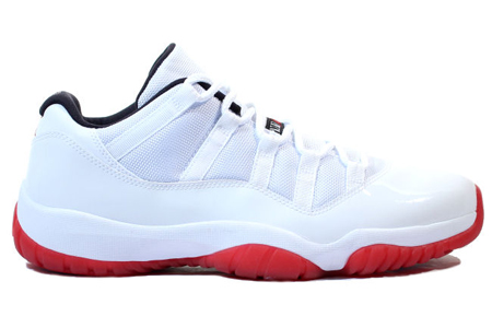 8a7990851ef032 Air Jordan XI (11) Retro Low White  Varsity Red – Black Available for  Pre-Order