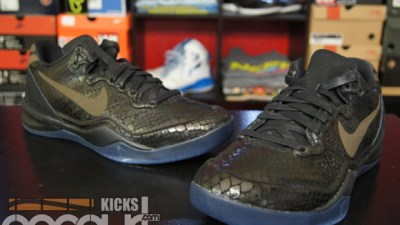 1e326c6c16ff Nike Kobe 8 EXT  Black  – Up Close   Personal