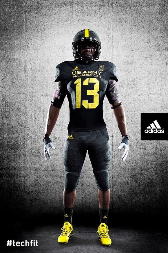 a9f931eb6 adidas Unveils New TECHFIT Football Uniforms for U.S. Army All ...