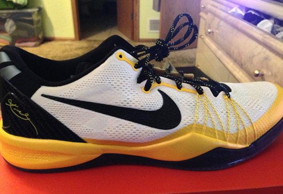 low priced 90dcb 80165 Nike Kobe 8 SYSTEM Elite PE White Black - Del Sol