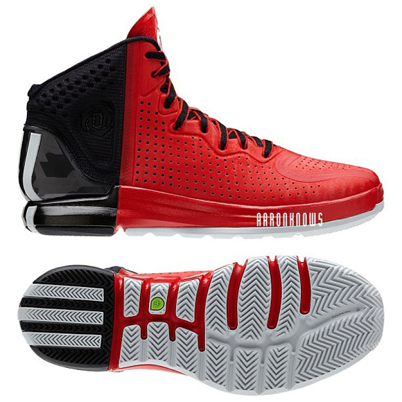 newest dc9b3 47339 adidas Rose 4 Black  Red - WearTesters